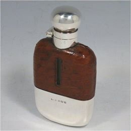 Silver flask with a similar style to the one stolen.